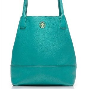 Tory Burch Teal Bucket Tote Purse